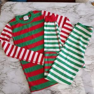 Hannah Andersson Kids Christmas PJs Red & Green
